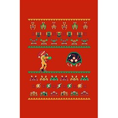 We Wish You A Metroid Christmas Ugly Holiday Christmas Red Background 5 5  X 8 5  Notebooks