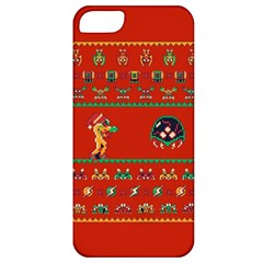 We Wish You A Metroid Christmas Ugly Holiday Christmas Red Background Apple Iphone 5 Classic Hardshell Case