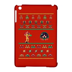 We Wish You A Metroid Christmas Ugly Holiday Christmas Red Background Apple Ipad Mini Hardshell Case (compatible With Smart Cover)