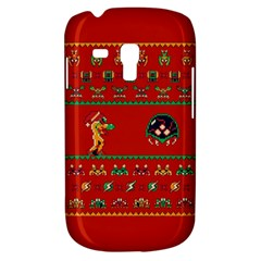 We Wish You A Metroid Christmas Ugly Holiday Christmas Red Background Samsung Galaxy S3 Mini I8190 Hardshell Case