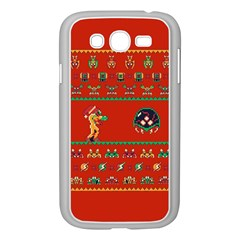 We Wish You A Metroid Christmas Ugly Holiday Christmas Red Background Samsung Galaxy Grand Duos I9082 Case (white)