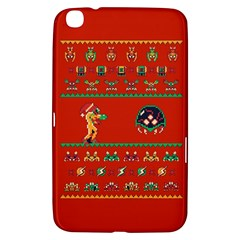 We Wish You A Metroid Christmas Ugly Holiday Christmas Red Background Samsung Galaxy Tab 3 (8 ) T3100 Hardshell Case