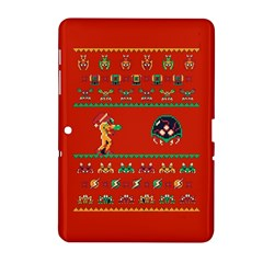 We Wish You A Metroid Christmas Ugly Holiday Christmas Red Background Samsung Galaxy Tab 2 (10 1 ) P5100 Hardshell Case