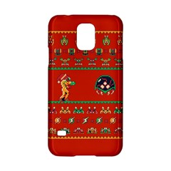 We Wish You A Metroid Christmas Ugly Holiday Christmas Red Background Samsung Galaxy S5 Hardshell Case