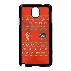 We Wish You A Metroid Christmas Ugly Holiday Christmas Red Background Samsung Galaxy Note 3 Neo Hardshell Case (black)