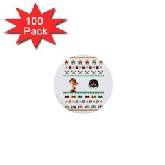 We Wish You A Metroid Christmas Ugly Holiday Christmas 1  Mini Buttons (100 Pack)