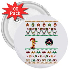 We Wish You A Metroid Christmas Ugly Holiday Christmas 3  Buttons (100 Pack)