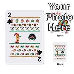 We Wish You A Metroid Christmas Ugly Holiday Christmas Playing Cards 54 Designs