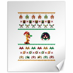 We Wish You A Metroid Christmas Ugly Holiday Christmas Canvas 16  X 20
