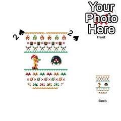 We Wish You A Metroid Christmas Ugly Holiday Christmas Playing Cards 54 (heart)