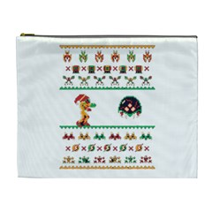 We Wish You A Metroid Christmas Ugly Holiday Christmas Cosmetic Bag (xl)