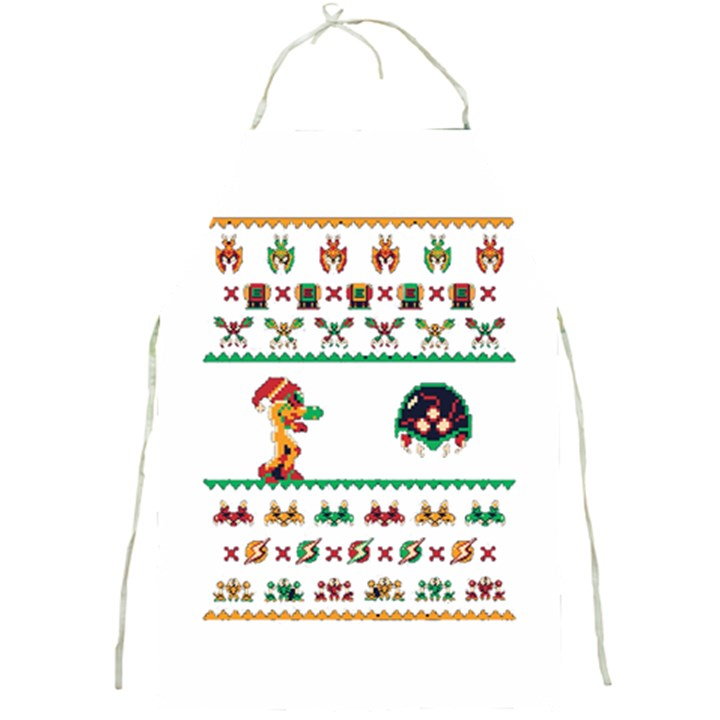 We Wish You A Metroid Christmas Ugly Holiday Christmas Full Print Aprons