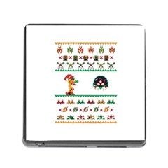 We Wish You A Metroid Christmas Ugly Holiday Christmas Memory Card Reader (square)