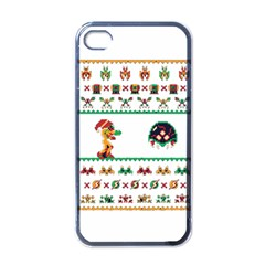 We Wish You A Metroid Christmas Ugly Holiday Christmas Apple Iphone 4 Case (black)