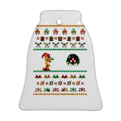 We Wish You A Metroid Christmas Ugly Holiday Christmas Bell Ornament (2 Sides)