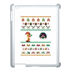 We Wish You A Metroid Christmas Ugly Holiday Christmas Apple Ipad 3/4 Case (white)