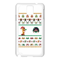 We Wish You A Metroid Christmas Ugly Holiday Christmas Samsung Galaxy Note 3 N9005 Case (white)