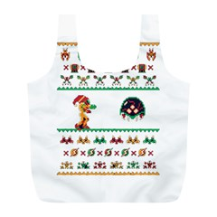 We Wish You A Metroid Christmas Ugly Holiday Christmas Full Print Recycle Bags (l)