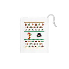 We Wish You A Metroid Christmas Ugly Holiday Christmas Drawstring Pouches (xs)