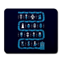 Who Is Outside Ugly Holiday Christmas Blue Background Large Mousepads