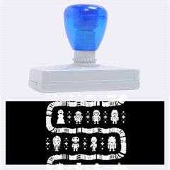 Who Is Outside Ugly Holiday Christmas Blue Background Rubber Address Stamps (XL)