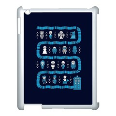 Who Is Outside Ugly Holiday Christmas Blue Background Apple Ipad 3/4 Case (white)