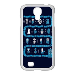 Who Is Outside Ugly Holiday Christmas Blue Background Samsung Galaxy S4 I9500/ I9505 Case (white)