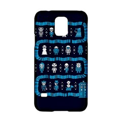 Who Is Outside Ugly Holiday Christmas Blue Background Samsung Galaxy S5 Hardshell Case