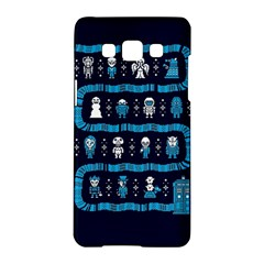 Who Is Outside Ugly Holiday Christmas Blue Background Samsung Galaxy A5 Hardshell Case