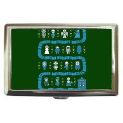 Who Is Outside Ugly Holiday Christmas Green Background Cigarette Money Cases