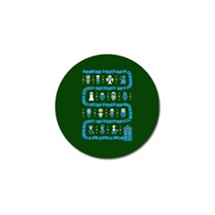 Who Is Outside Ugly Holiday Christmas Green Background Golf Ball Marker (4 Pack)