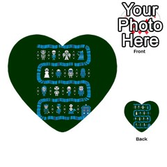Who Is Outside Ugly Holiday Christmas Green Background Multi Purpose Cards (heart)