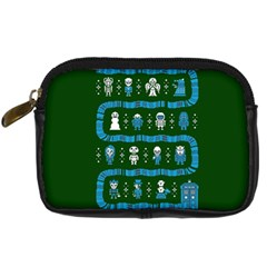 Who Is Outside Ugly Holiday Christmas Green Background Digital Camera Cases