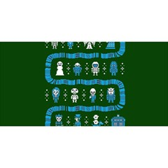 Who Is Outside Ugly Holiday Christmas Green Background YOU ARE INVITED 3D Greeting Card (8x4)