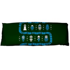 Who Is Outside Ugly Holiday Christmas Green Background Body Pillow Case (dakimakura)