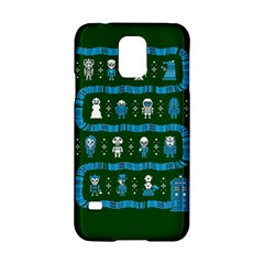 Who Is Outside Ugly Holiday Christmas Green Background Samsung Galaxy S5 Hardshell Case