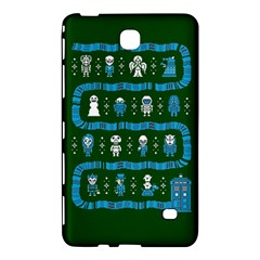 Who Is Outside Ugly Holiday Christmas Green Background Samsung Galaxy Tab 4 (8 ) Hardshell Case