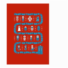 Who Is Outside Ugly Holiday Christmas Red Background Small Garden Flag (two Sides)