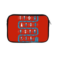 Who Is Outside Ugly Holiday Christmas Red Background Apple Ipad Mini Zipper Cases