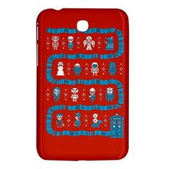 Who Is Outside Ugly Holiday Christmas Red Background Samsung Galaxy Tab 3 (7 ) P3200 Hardshell Case