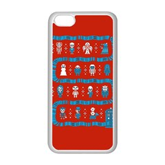 Who Is Outside Ugly Holiday Christmas Red Background Apple Iphone 5c Seamless Case (white)