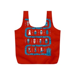 Who Is Outside Ugly Holiday Christmas Red Background Full Print Recycle Bags (s)