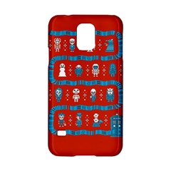 Who Is Outside Ugly Holiday Christmas Red Background Samsung Galaxy S5 Hardshell Case