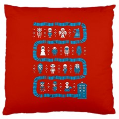 Who Is Outside Ugly Holiday Christmas Red Background Standard Flano Cushion Case (two Sides)