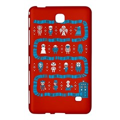 Who Is Outside Ugly Holiday Christmas Red Background Samsung Galaxy Tab 4 (8 ) Hardshell Case