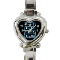 Who Is Outside Ugly Holiday Christmas Black Background Heart Italian Charm Watch