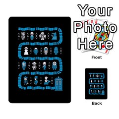 Who Is Outside Ugly Holiday Christmas Black Background Multi Purpose Cards (rectangle)