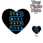 Who Is Outside Ugly Holiday Christmas Black Background Multi-purpose Cards (Heart)  Back 1