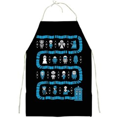 Who Is Outside Ugly Holiday Christmas Black Background Full Print Aprons