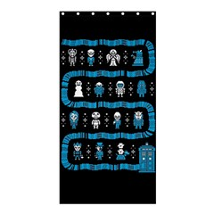 Who Is Outside Ugly Holiday Christmas Black Background Shower Curtain 36  x 72  (Stall)